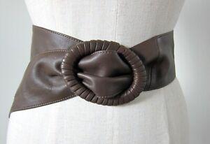 FAITH Vintage Leather Belt, Brown