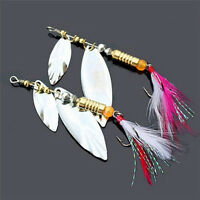 Hook Treble Spinner Bait Tackle Lures Sequins Spoon Feather Fishing Paillett NT
