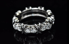AGI Tiffany & Co Schlumberger 16 Stone Diamond ALL Platinum Signature X Ring 6.5