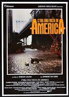 Werbeplakat C'Era Ein Volta IN Amerika Sergio Leone Robert De Niro James Woods