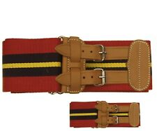 More details for royal artillery stable belt   ra stable belt brand new with leather straps