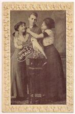 Postcard Risque Sexy Menage a Trois Yonkers, NY to Poughkeepsie New York 1911