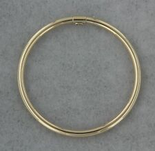 14k Yellow Gold Slip on Bangle Baby Bracelet Hollow. Welcome Baby Baptism Gift