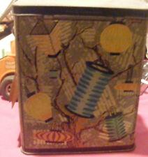 Vintage Christmas tree Tin Canister Unusual