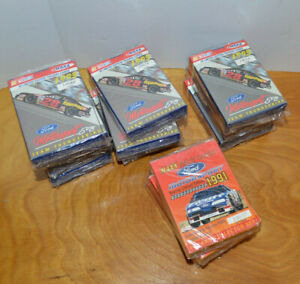VINTAGE MAXX NASCAR TRADING CARDS LOT 1991 1993 SEALED SETS BOXES FORD