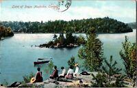 Shore Picnic Lake Of Bays Muskoka Ontario ON Stedman Bros. Postcard c. 1910 b26