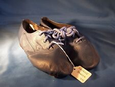 Dance Jazz Shoes Sansha Colorful Blue Tie Up Size 4M *Great for Halloween*