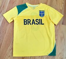 Simply For Sports youth Futbol Soccer Jersey Brazil #8 Size Large 14 16 EUC
