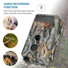 16MP HD Game Trail Hunting Camera NO Glow IR Wildlife Scouting Cam Night Vision
