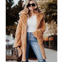 Camel Vegan Coat NWT Bloomingdale's Faux Fur Teddy Bear Jacket Brown Large $299