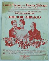 """""""LARA'S THEME SOMEWHERE MY LOVE"""" FROM DOCTOR ZHIVAGO SHEET MUSIC FROM 1962"""