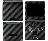 Black Carbon Fiber Vinyl Decal Skin Cover Sticker for Game Boy Advance GBA SP