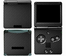 Black Carbon Fiber Vinyl Decal Skin Cover Sticker for Game Boy Advance GBA SP