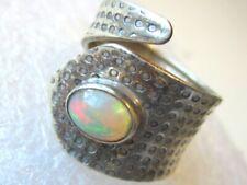 RARITÄT Ring Natur Opal ECHTER  Kristallopal Gr16 17 18 verstellbar 925 Silber