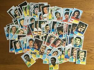 FKS 1974 World Cup football stickers (mostly duplicates)