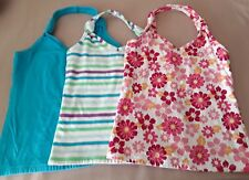 Girls Halter Top LOT x3 Medium 7/8 Children's Place Blue/Striped/Floral Pink