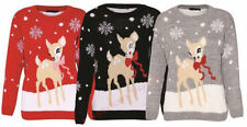 Waist Regular Size Jumpers & Cardigans Reindeer for Women