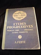Partition Etudes progressives Les maitres du piano N°2 Music Sheet