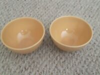 "Set of 2 Pottery Barn Stoneware SOPHIA YELLOW 6-1/4"" Soup Cereal Bowls Nice!!"