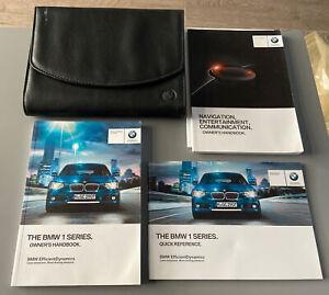 BMW 1 SERIES OWNERS MANUAL HANDBOOK & FOLDER WALLET BOOK PACK F20 F21 2011-2015