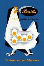 Metà Del Secolo Anni 1950 PASTA ITALIANA Pubblicità V.5 POSTER A3 RISTAMPA