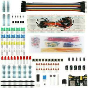 Beginners Electronic Learning Starter Kit Breadboard Components Projects Tool