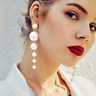 SEXY lange chice Ohrringe schicke Ohrhänger große Perlen 10 cm lang Trend
