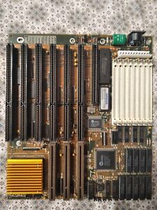 Rare 486 VLB motherboard + Intel DX2-66 CPU with radiator