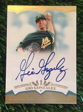 2011 Topps Tier One Gio Gonzalez Crowd Pleasers Auto #'d /699 NATS HOT