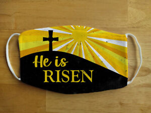 Face Mask Easter Jesus He is Risen Religious Reusable Protection Face Cover UK