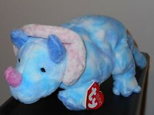 Ty TROMPS the Triceratops Dinosaur Pluffies ~ MINT with MINT TAGS ~ Plush Toy