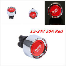 DC 12-24V Racing Car Engine Start Push Button Switch Ignition Switch Starter Red