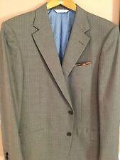 """ Samuelson"" A Zegna Luxurious Cloth Taupe Pin Stripe Silk/Wool Sport Coat 44L"
