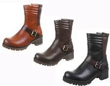 Markenlose Damenstiefel & -stiefeletten im Boots-Stil ohne Muster