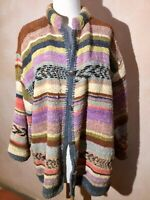 Gretel Underwood Santa Fe Chenille Jacket Size M Medium Handwoven Button Front