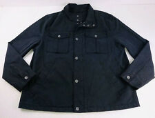 UGG Australia Cohen Waxed Cotton Jacket Off Black Canvas 1093592 Coat Men's XL