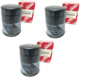 3 Toyota Lexus Oil Filter 90915-YZZD3 4Runner Tundra Tacoma Sequoia + Drain Plug