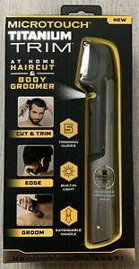 Microtouch Titanium Trim At Home Hair Cut & Body Groomer Micro Touch Edge NEW