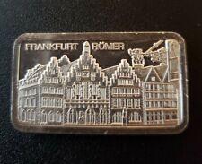 Rare Degussa Frankfurt  Romer 1oz .999 Fine Silver Art Bar