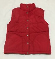 Vintage North Face Womens Medium Red Puffer Vest Snap Front Synthetic Fill USA