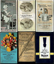 1920's Lot Rare Vintage Orig Dealer Household Brochures Cooking Cleaning Pen Ad