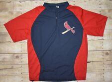 NWOT Mens Cardinals 3/4 Zip Short Sleeve Jersey - XL