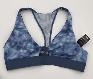 Victoria Secret PINK ULTIMATE Blue Tie Dye Gym To Swim Sports BRA Size L NEW