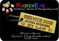 WOVEN Service Dog Tag Patch clip on
