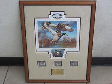 Robert Steiner 2003 Duck Stamp Print Governor Gold Remarqued Edn Schwarzenegger