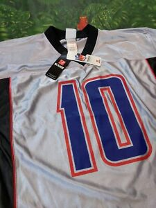 Reebok NFL Team Apparel - NY Giants MANNING #10 Jersey - Silver Black Blue Red L