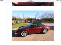 Porsche 911/993 carrera 4 cabriolet 1996 6 speed manual 83,000 miles arena red