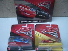 Disney Pixar Cars 3 Rust Eze Lightning & Daniel swervez & Cartel Nuevo