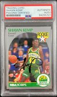 Shawn Kemp auto signed rookie card NBA Seattle Supersonics PSA Encapsulated