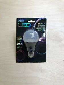 Feit BPA19/BLB/LED Non-Dimmable A19 E26 Blacklight Blue LED Party Bulb, 9W